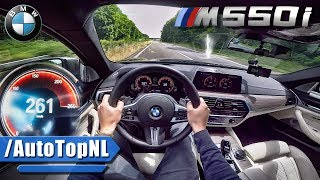 BMW 5 Series M550i AUTOBAHN POV ACCELERATION & TOP SPEED by AutoTopNL