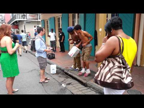 Walking in the French Quarters in New Orleans