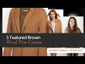 5 Featured Brown Wool Pea Coats Amazon Fashion, Winter 2017