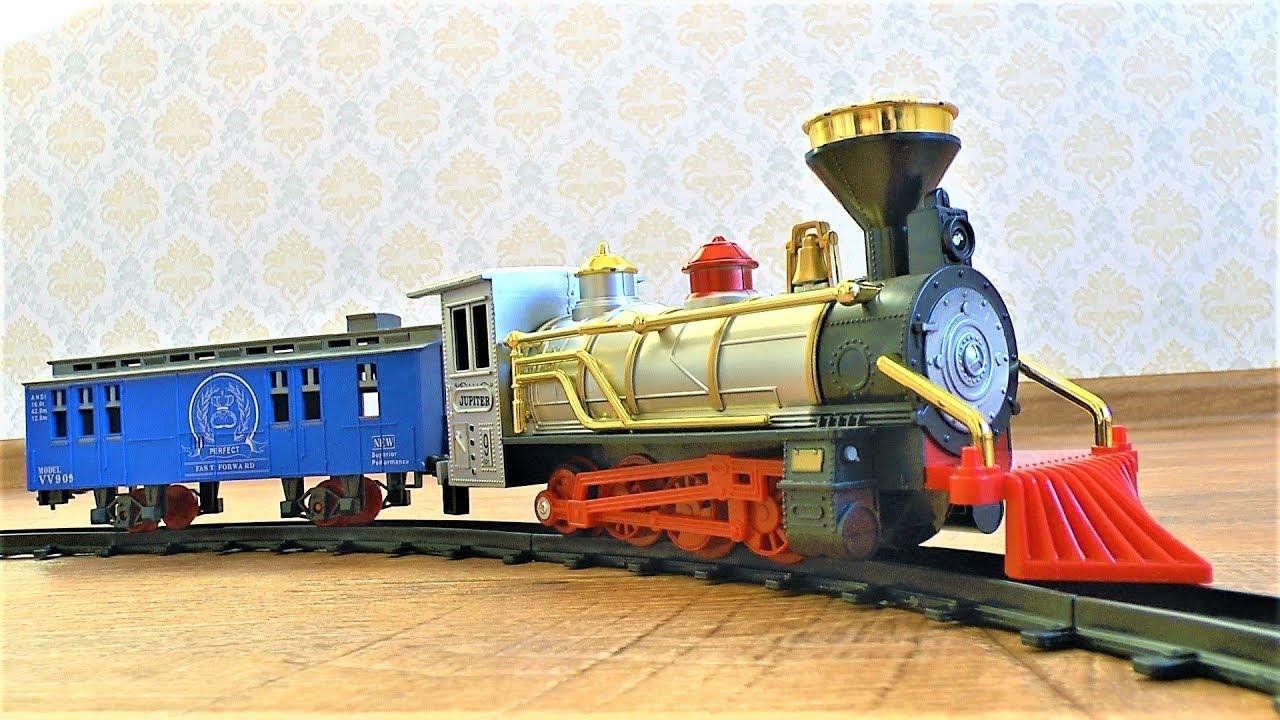 Большой поезд и железная дорога Игрушки для мальчиков Видео про поезда для детей