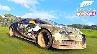 Forza Horizon 4 - НА НОВОЙ БУГАТТИ ПО БЕЗДОРОЖЬЮ.