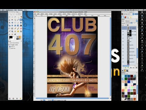 How to Make a Professional Flyer in Gimp thumbnail