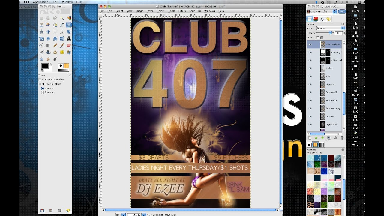 How To Make A Professional Flyer In Gimp   YouTube  Advertisement Flyer Maker