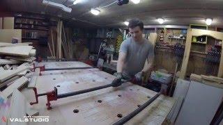 Изготовление столешницы из дуба.