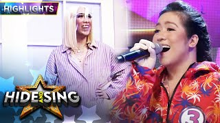 Vice gets shocked upon seeing Angeline as the celebrity singer   It's Showtime Hide And Sing