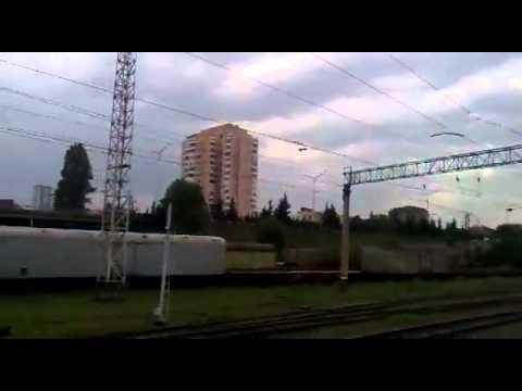 Поезд Ереван Тбилиси прибывает в Тбилиси