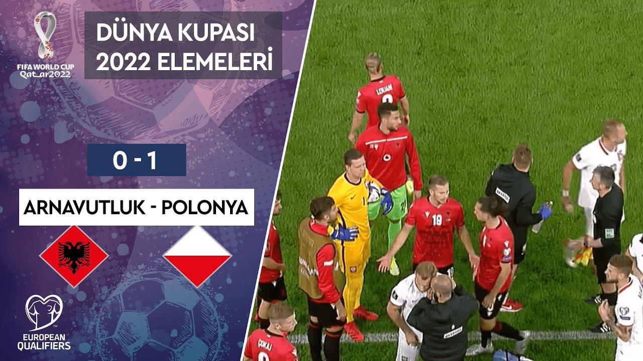 Arnavutluk 0-1 Polonya   Maç Özeti   2022 Dünya Kupası Avrupa Elemeleri - I Grubu