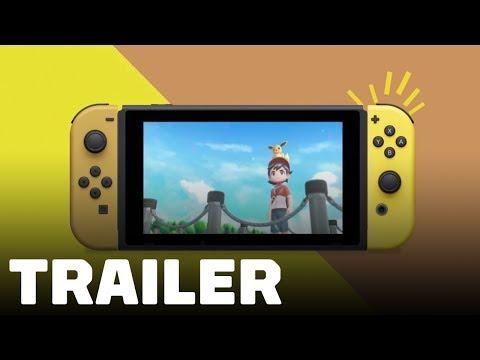 Pokemon Let's Go Pikachu & Eevee Edition Nintendo Switch Trailer - TGS 2018