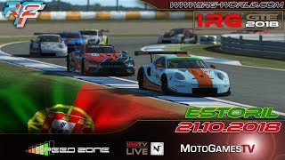 rFactor 2 – IRG GTE 2018 – ROUND 4 - Estoril - LIVESTREAM