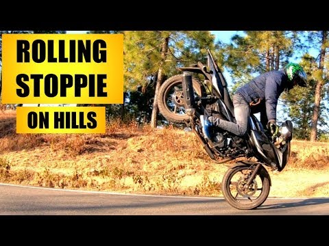 Rolling Stoppie & Stunning Stunts On Pulsar - 220F | On Hills.