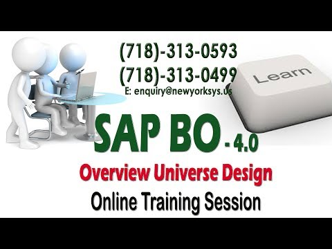 SAP BO Reporting Tool   Live Session   Creating Universe