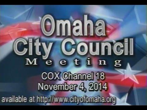 Omaha Nebraska City Council Meeting, November 4, 2014