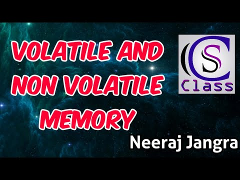 What Is Volatile And Non Volatile Memory |in Hindi| On CS Class By Neeraj Jangra