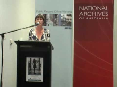 Susan van Wyk introduces Max Dupain on Assignment, Victorian Archives Centre, February 2009