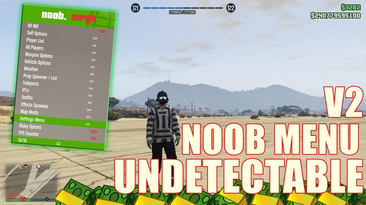 GTA 5 Online PC 1 39 - NOOB MENU V2 - Stealth Money $90 000 00 No Ban!  Undetectable