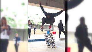 TV News Reporter loves Skateboarding