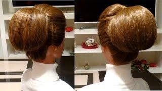 Простая прическа своими руками. Объемная прическа на вечер. Easy hairstyle