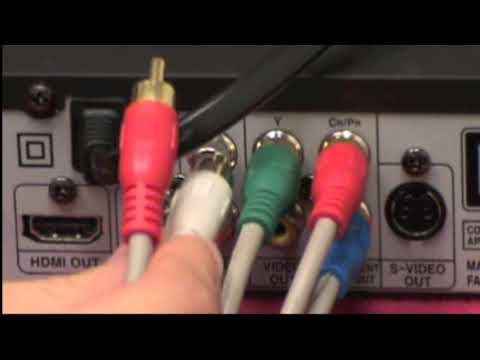 English] DVD Player via Component Cables - YouTube