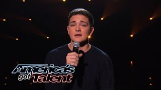 "Jaycob Curlee: Teen Sings ""Beneath Your Beautiful"" Cover - America's Got Talent 2014"