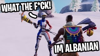 I played Fortnite at 5AM and met the FUNNEST Kid from ALBANIA! (HE'S A NOOB!)