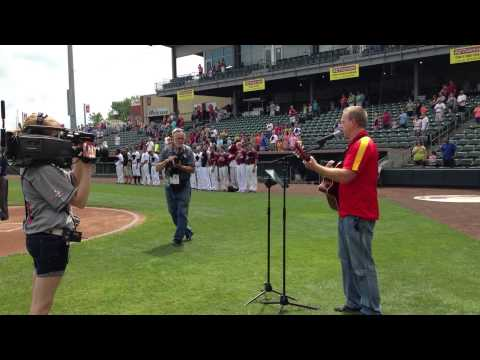 Greg Knapp with KCMO Talk Radio singing our National Anthem