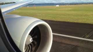 Boeing 777-300ER Afternoon Takeoff from Auckland to Los Angeles