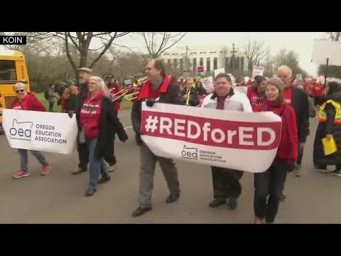 Teachers, students march for more school funding