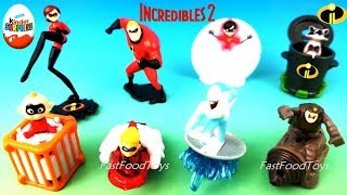 2018 INCREDIBLES 2 KINDER SURPRISE EGGS TOYS DISNEY PIXAR FULL WORLD SET 8 CHOCOLATE UNBOXING EUROPE
