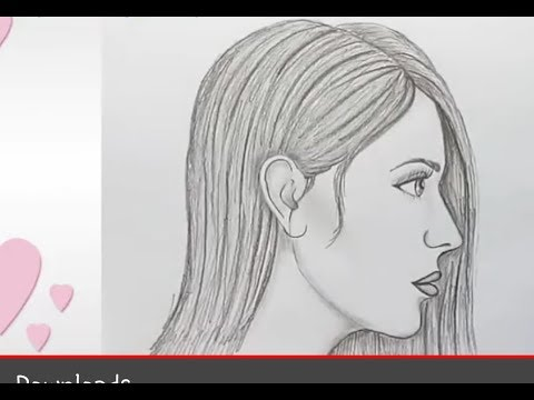 How To Draw Girl Side Face Easy Way To Draw Youtube