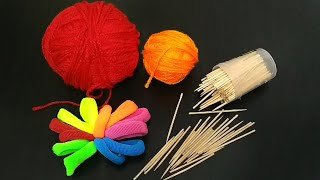 Reuse Of Waste Toothpick and Wool | Best Craft Idea Out Of Waste