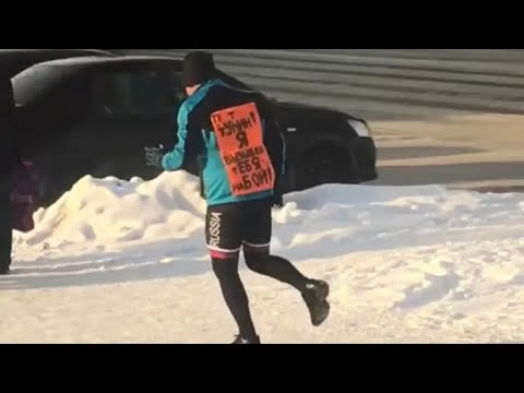 Танцующий пешеход. Сургут