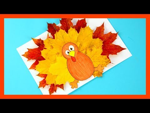 Trukey Leaf Craft Template - Fall Craft For Kids