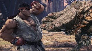 Monster Hunter World -  Street Fighter V Ryu Event Quests