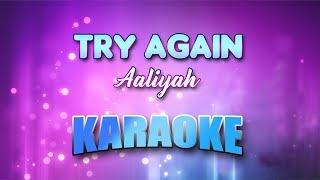 Aaliyah - Try Again (Karaoke version with Lyrics)