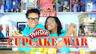The Frog Vlog: Play Doh Cupcake Wars Challenge