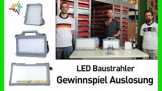 LED-Baustrahler Fußball Gewinnspiel Auslosung - Magnum Future LED
