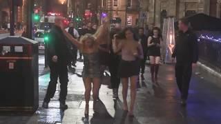 DRUNK Tahlia Chung, Bethan Kershaw, Chloe Ferry filming Geordie Shore series 19 in Newcastle!