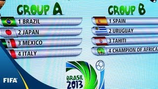 Brazil draw Italy in FIFA Confederations Cup