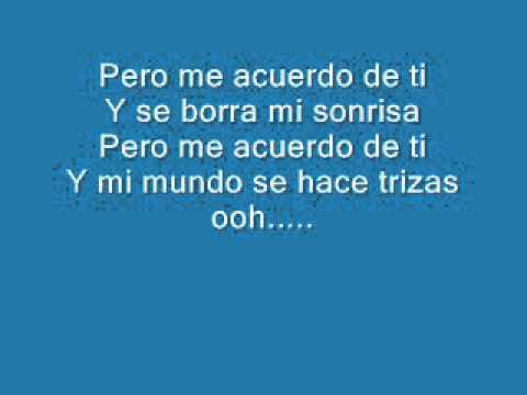 Pero Me Acuerdo De Ti KARAOKE with LYRICS - Christina Aguilera