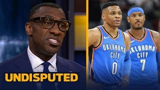 Shannon Sharpe blames Russ and Melo for Thunder blowing late lead vs Celtics   UNDISPUTED