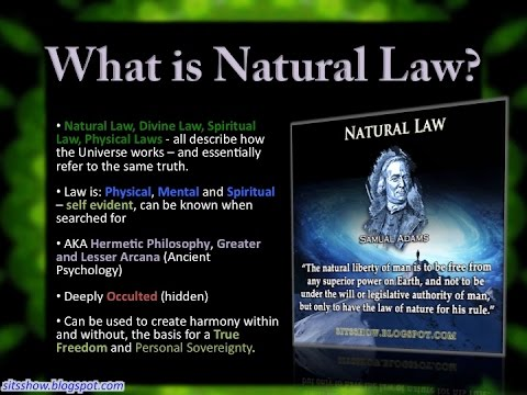 Nature Vs Natural Law