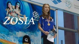 Zosia   Czernicka mistrzyni Polski juniorów w pływaniu   Olsztyn 2016