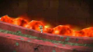 Little Big Planet PSP- Created Level: Great adventure 2: Lava Looza