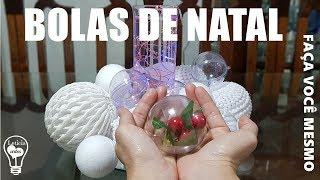 Como Fazer Bolas de Natal Brancas e Transparente