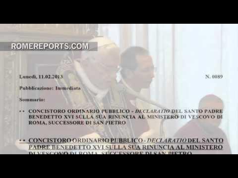 Two years ago, Benedict XVI resigned