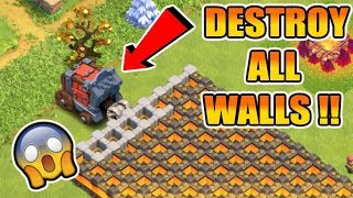 "MAX WALL WRECKER VS MAX WALLS !! DANGEROUS TROLL BASE FOR TESTING SIEGE MACHINE | ""Clash Of Clans"""