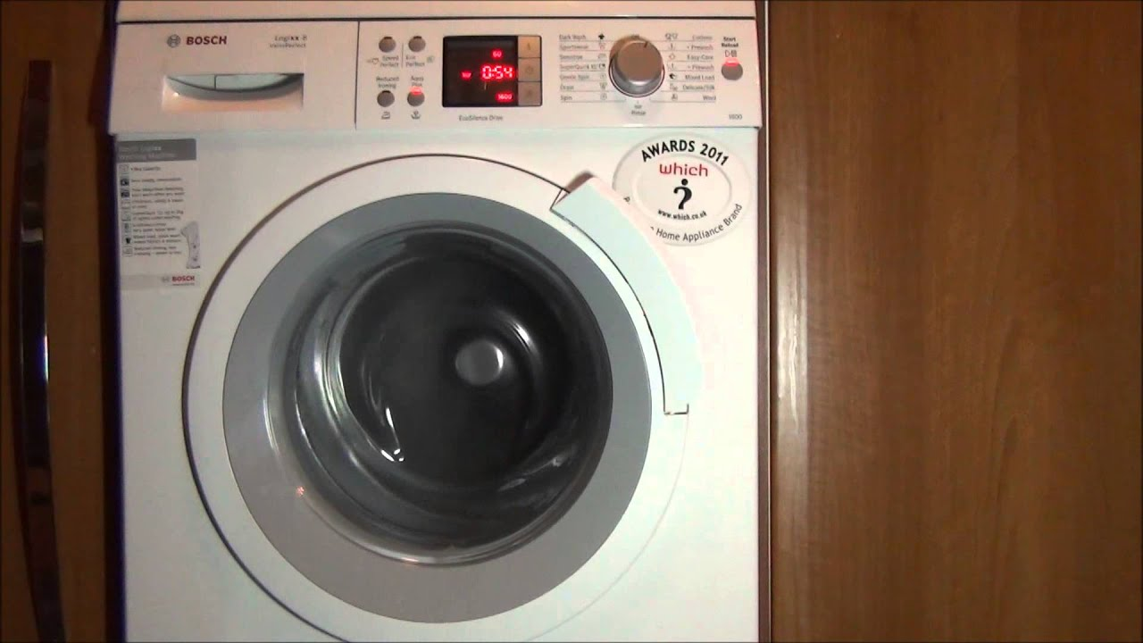bosch logixx washing machine aqua plus switch test youtube