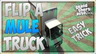 GTA 5 Online: How To Make a Mule Flip! - Bunny Hop a Vehicle! (Easy Trick) [GTA V]