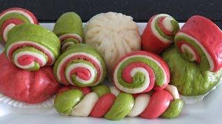 Паровые БУЛОЧКИ разноцветные вьетнамские булочки Бань Бао китайские булочки на пару баоцзы Bánh bao