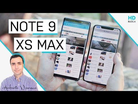 iPhone XS Max vs GALAXY Note 9: sfida oltre i 1000 euro